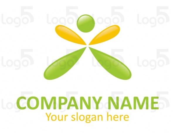 Springende Person Logo