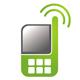 Grünes Handy