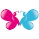Zwei Schmetterlinge