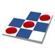Spielfeld mit Kreisen und Karos