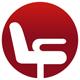 Bürostuhl im roten Kreis