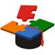Akademiker Hut mit Puzzle Oberteil
