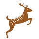 Bambi - Platzhirsch - Springender Reh