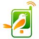 Klingeltöne - Handy mit einem zwitscherndem Vogel