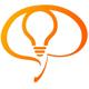 Gehirnsilhouette mit einer Glübirne - Idee Logo