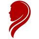 Rothaarige Schönheit - Logo für Friseur