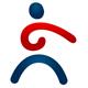 Abstrakte Person Logo mit harmonischen Linien