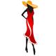 Mode Logo - Dame im roten Kleid und Hut