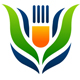 Bio Essen Logo - Gabel wächst aus einer Pflanze