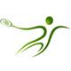 Tennis Logo - Tenisspieler beim Aufschlagen