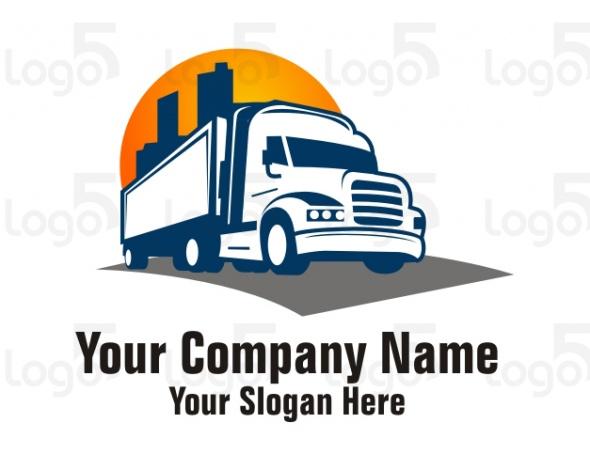 Umzug und Logistik - LKW Logo