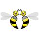 Zwei sich tief in die Augen schauende Bienen