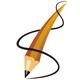 Stift umschlungen von einer Strich Spirale