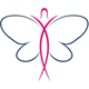 Stilisierte Frauenkörper im Schmetterling Form
