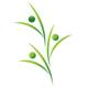 Personen mit Händen nach oben ergeben eine Pflanze