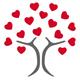 Baum mit Herzblüten