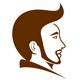 Männergesicht mit cooler Frisur und Bart