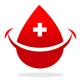 Bluttropfen mit einem lächelndem Gesicht