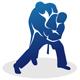 2 Judoka beim Kampf