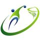 Sport Logo - Basketballspieler springt zum Korb