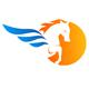 Pegasuz Pferd fliegt in den Süden