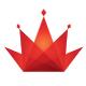 Rote Krone mit transparenzen