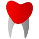 Zahnkrone in Form eines Herzens