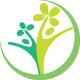 grüne Pflanze im Halbkreis