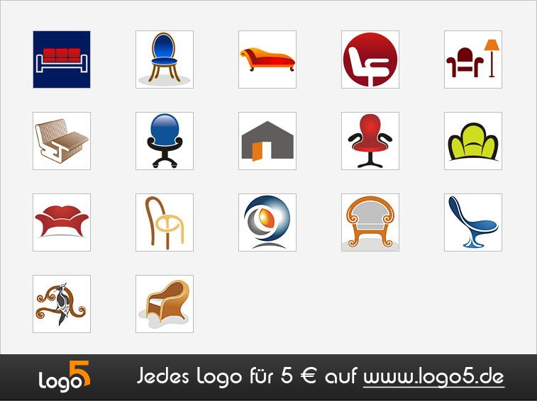 Innenausstattung und Möbel Logos   logo5.de