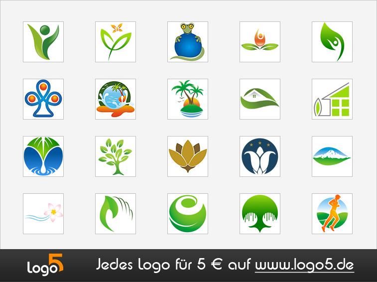 Natur und Umwelt Logos